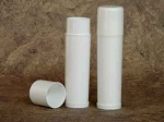 1/2 oz White Round LIGHT WEIGHT Lotion Bar Tube W/ Cap