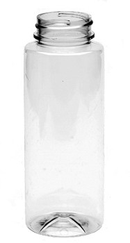 8 oz clear PET honey bottle (12 oz of honey) w/ 38-400 neck finish