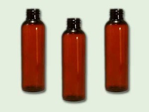 2 oz Amber PET Bullet Bottle 20/410