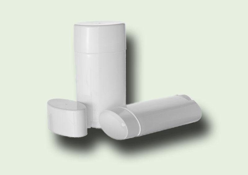 2 5 oz White Oval Polypropylene Twist-Up (Propel/Repel) Lotion Bar  (Deodorant) Tube w/Cap