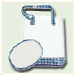 Blue Gingham Vinyl Bag  (50 Count)