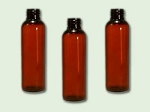 2 oz Amber PET Cosmo Round (Bullet) Bottle 20-410
