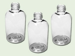 4 oz Clear PET Boston Round Bottle 24-410