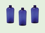 4 oz Cobalt Blue PET Cosmo Oval Bottle 20-410