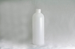 8 oz Natural HDPE Modified Boston Round Bottle (Plastique) 24-410