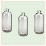 16 oz Clear PET Boston Round Bottle 28-410