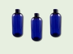 4 oz Cobalt Blue PET Boston Round Bottle 24-410