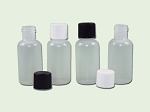 1/2 (.5) oz Natural LDPE Boston Round Bottle 15-415