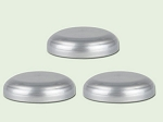 70-400 Silver Polypropylene Domed Unlined Lid