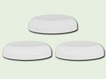 70-400 White Polypropylene Dome Unlined Lid