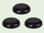 70-400 Black Polypropylene Dome Unlined Lid