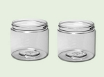 8 oz Clear PET Straight Based Single Wall Jar 70-400