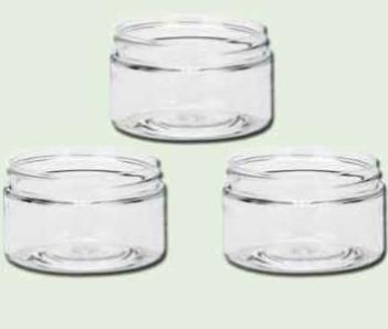 75817bb66d73 2 oz Clear PET Single Wall Jars 58/400