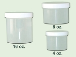8 oz Natural Polypropylene Single Wall Jar 89-400