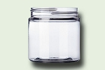 4 oz Clear PET Single Wall Jar 58-400