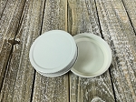 58-400 White Metal Lid with Plastisol Liner