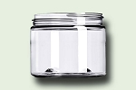 6 oz Clear PET Single Wall Jar 70-400