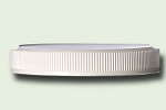 70-400 White Polypropylene Fine Ribbed Unlined Lid