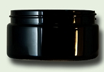 8 oz. Black PET Low Profile Straight Based Single Wall Jar 89/400