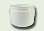 8 oz White Polypropylene Radius Based Double Wall Jar 89/400