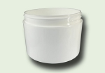 8 oz White Polypropylene Straight Based Double Wall Jar 89/400