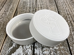 53-400 White Polypropylene Ribbed CRC Lid w/ HIS liner