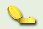 38/400 Yellow Polypropylene Cap with .250 orifice & PS-22 liner