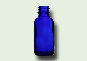 1 oz Cobalt Blue Glass Boston Round Bottle (432 Pieces) made in USA