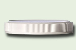 70/400 White Polypropylene Ribbed Unlined Lid