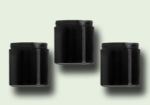 8 oz Black PET Straight Based Jars 70-400