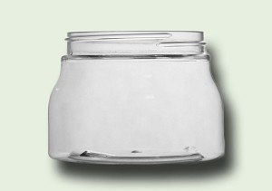 16 oz Clear PET Tuscany Single Wall Jar 89-400