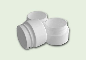 1/4 (.25) oz White Double Wall Jar 33-400