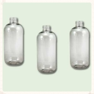 16 oz Clear PET Boston Round Bottle 24-410