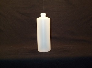 16 oz Natural HDPE Cylinder Bottle 24-410
