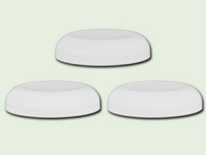 58-400 White Polypropylene Dome Unlined Lid