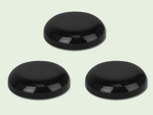 48/400 Black Polypropylene Dome Unlined Lid