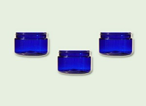 8 oz  Cobalt Blue PET Low Profile Straight Based Single Wall Jar 89-400