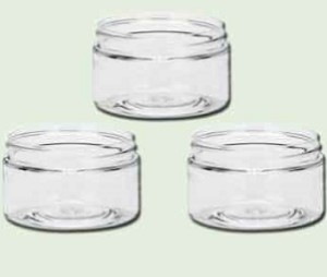 2 oz  Clear PET Single Wall Jar 58-400