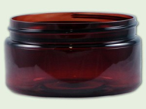 8 oz Amber PET Low Profile Straight Based Single Wall Jar 89-400
