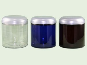 8 oz Cobalt Blue PET Straight Based Jars 70-400