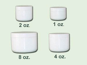 4 oz White Radius Based Double Wall Jar  70-400