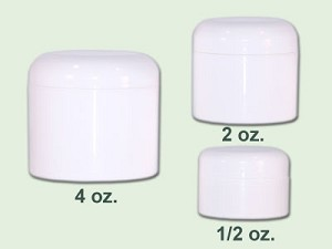 4 oz White Straight Based Double Wall Jar 70-400