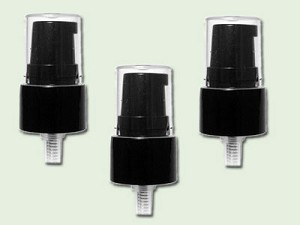 20/410 Black Treatment Pump with clear cover and 4 inch dip tube